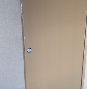 団地の倉庫室の鍵交換