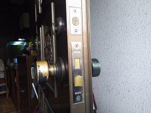 玄関ドアの鍵交換後